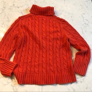 J. CREW Chunky Cable Knit Turtleneck Sweater  M
